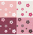 Stars and dots geometric seamless patterns vector image vector image