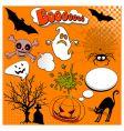 Halloween comic elements vector image