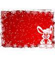 Christmas rabbit vector image vector image