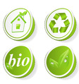 Set of green ecology tags vector image