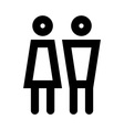 Man and women icon set vector image