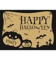 Halloween Party Design template with pumpkin vector image