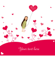 cute valentines background vector image vector image