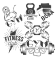 Set of gym labels in retro style Sport and vector image