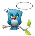 Blue Bird Sleepy vector image