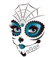 Day of Dead Girl Face vector image