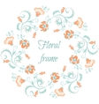 Floral garland Flower border frame in pastel vector image