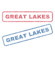 great lakes textile stamps vector image