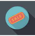 paper flat icon plate sale vector image