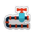 pipeline tap oil icon vector image