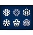 Set of winter snowflake vector image