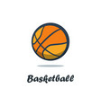 silhouette of basketball ball basketball player vector image