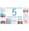 templates business infographics 5 positions vector image