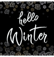 Winter callygraphy design vector image