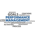 Word cloud performance management vector image