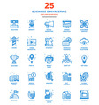 Modern Flat Line Color Icons Business and vector image vector image