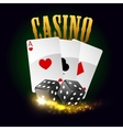 Casino poster Cards dices vector image vector image