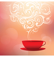 Coffee with tribal smoke vector image vector image