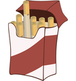 Cigarette pack on white background vector image