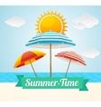 Beach Umbrella Summer Card vector image