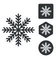 Cold icon set monochrome vector image