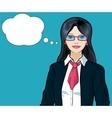 Asian Businesswoman pop art comic vector image