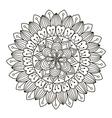 Beautiful Decoration Floral Mandala vector image