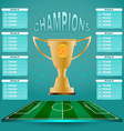 Champions Groups and Teams Template vector image