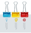 colorful binder clip option banner vector image