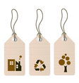 Eco tags set isolated on white vector image