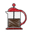 French press coffee related icon image vector image