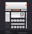 modern web design template vector image