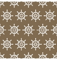 Ship Helm Seamless Pattern vector image
