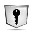 symbol key safety shield steel icon vector image