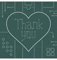 Thank You Techno Line Art Bakcground vector image