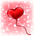 Balloon in the shape of heart vector image vector image