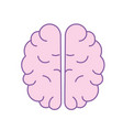 creative brain with idea over white background vector image