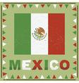 mexico flag decoration vector image