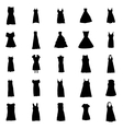 Woman dresses silhouettes set vector image