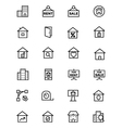 Real Estate Line Icons 2 vector image