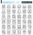 dental care outline mini concept symbols modern vector image
