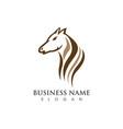 horse logo template vector image