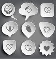love in hands protection love careful heart vector image