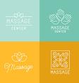 Massage logos vector image