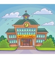 School building Bright cartoon vector image