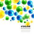 Colors molecules background3D molecule vector image