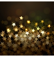 Golden Christmas background with stars Eps10 vector image vector image