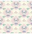 Seamless pattern with hipster polar bear and heart vector image vector image
