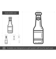 Soda bottle line icon vector image