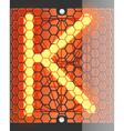 Radio tube K vector image
